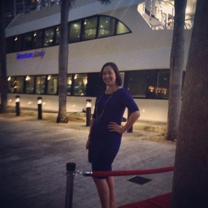SCOPE dinner cruise hosted by Pharmica had a red carpet, champagne, and beautiful views of Miami.