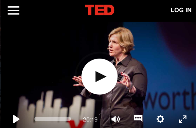 Brené Brown. This TEDx on vulnerability is great.